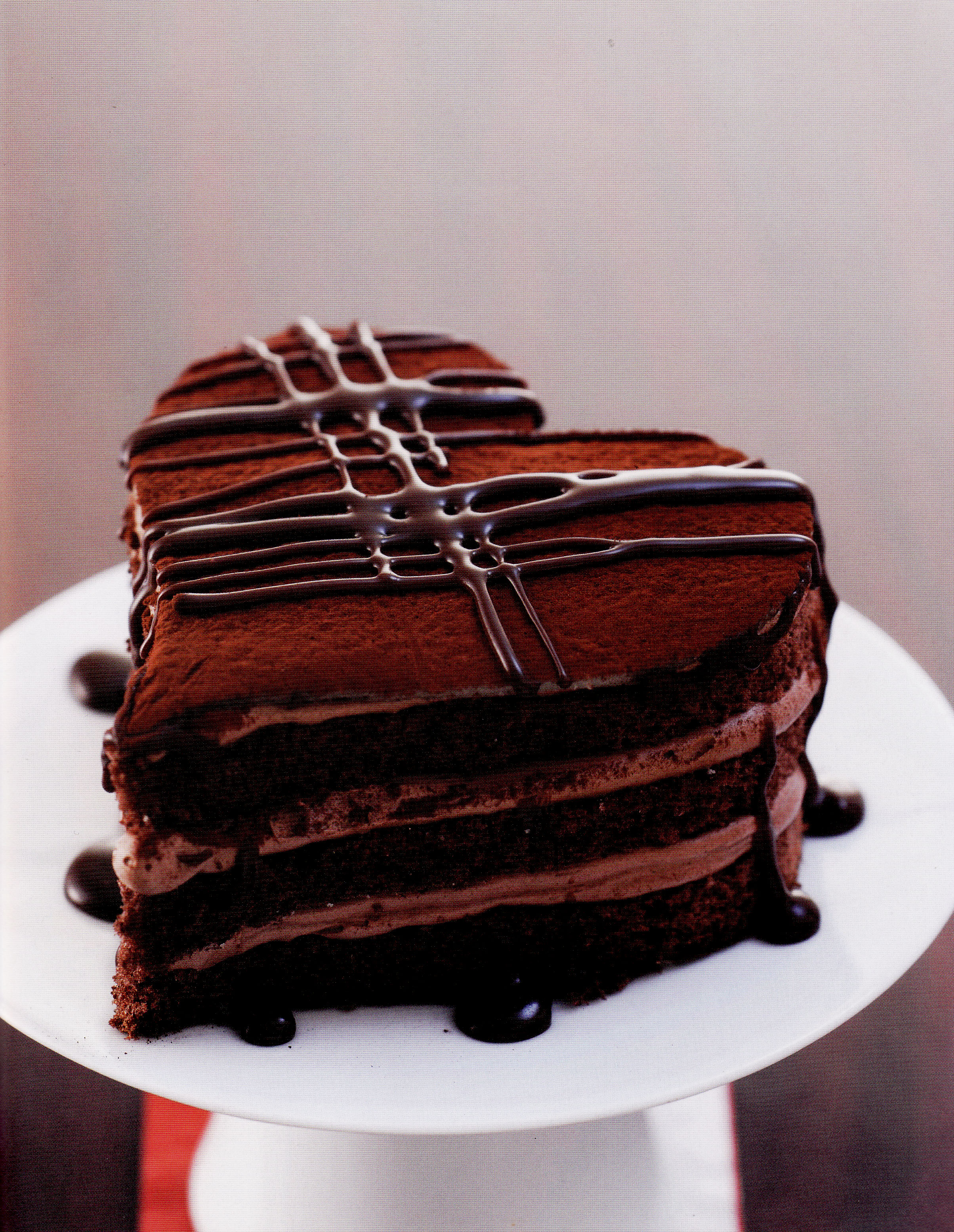 Heart Chocolate Cake Images : Valentine s Day Special   Chocolate Layer Cake   Food 4 ...