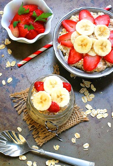 Vegan Sweet Oatmeal for Breakfast